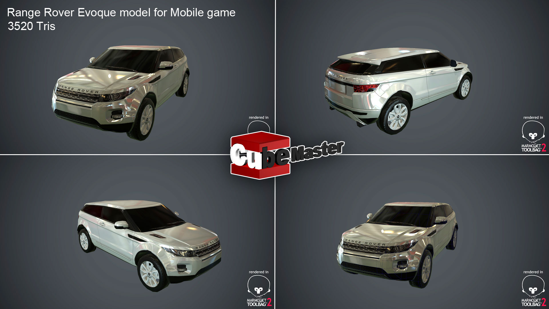 Lowpoly car modeling for mobile game | Cube Master Animations